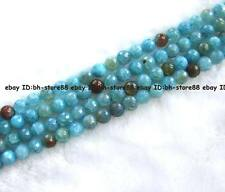 """8,10,12,14mm sky blue crack Agate round faceted Beads 15"""""""