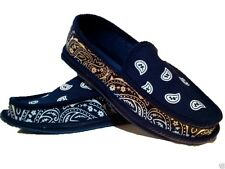 NAVY BLUE BANDANA HOUSE SHOES SLIPPERS TROOPER BRAND NEW SIZE 9 10 11 12 13