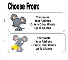 30 Cartoon Mouse Personalized Address Labels