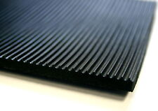 RIBBED RUBBER MATTING 1.2M WIDE 6MM THICK ANTI SLIP