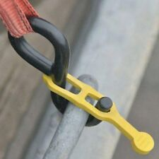 Hook-Tight bungee cord ratchet strap secure tie down hooks. Single or 5 pack.