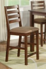 1 COUNTER HEIGHT DINING KITCHEN CHAIRS WOOD SEAT OR UPHOLSTERY IN ESPRESSO