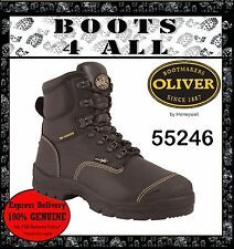 Oliver Work Boots Steel Toe AT'S 55246 Black Lace-Up Safety