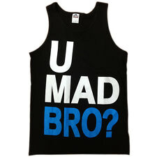 Brand New Men's Funny Tanktop U MAD BRO? Fast USA Shipping