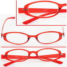 ~Twist and See~ Flexi Fexible Fun Frame READING GLASSES Runway Red +1.00 +2.00