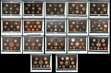 ROYAL MINT UK Proof Coin Set 1983 - 1999 Mulit Listing with COA