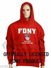 Official FDNY Sweatshirt Hoodie : Red Fire Department New York Shirt Fireman NYC