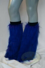 Purple Fluffy Legwarmers Rave Wear Accessories
