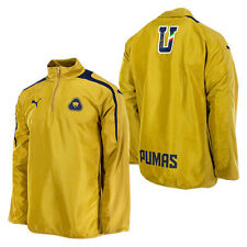 PUMA PUMAS UNAM 1/4 ZIP TRAINING TOP 2012/13 GOLD/BLUE MEXICO.
