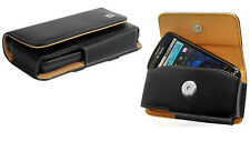 Leather Horizontal Case Pouch Holster w/Belt-Clip for Nokia + Microsoft phones.