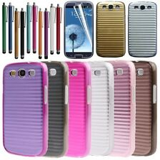 New Aluminium Metal Line Hard Back Case Cover For Samsung Galaxy S3 SIII i9300