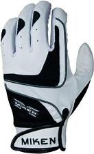 NEW Miken Team Adult Batting Gloves MTMBGA ALL SIZES AVAILABLE Gray/Black/Red