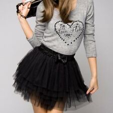 New Cute Girl's Full Tutu Tulle Tier 5 Layers Skirts Mini Short Dress IN 5Colors