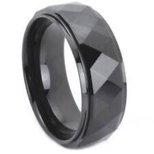 Tungsten Carbide Ring with Prism Design in Size 9-14 - Prisma by CubeZion