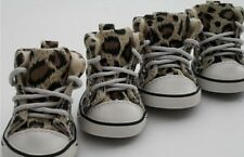 Fashion Cozy Pet Dog Boots Puppy Leopard Shoes For Small and Big Dog SIZE #1-#8
