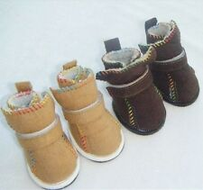 Warm Cozy Pet Dog Boots Puppy Shoes 2 Colors For Winter For Small Dog SIZE #1-#5