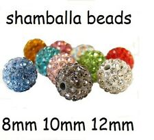 8mm 10mm 12mm Clay Crystal Disco Ball Beads Make Shamballa Bracelects