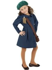 GIRLS WORLD WAR 2 EVACUEE FANCY DRESS COSTUME WW2 WARTIME OUTFIT 1930s 1940s 30s