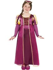TUDOR MEDIEVAL GIRL FANCY DRESS COSTUME GIRLS PURPLE VICTORIAN EDWARDIAN OUTFIT