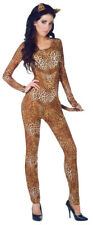 WILD ADULT WOMENS COSTUME Sexy Lady Animal Print Leopard Theme Party Halloween