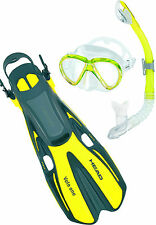 Head Marlin Dry Mask, Snorkel Fins Set Scuba, Diving, Free Dive Snorkeling YL