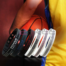 New Power Titanium Sports 2000 Ionics Wristband Bracelet Balance 6 Color U Pick