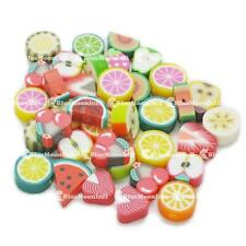 50 100 500 1000 Nail Art DIY mixed fimo Polymer Clay Spacer Beads Hole BJ001