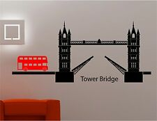 london tower bridge bus wall art sticker decal kids lounge kitchen bedroom