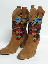 Saddle Blanket w/ SUEDE by Very Volatile Ladies Western Boots VONA Embroidered