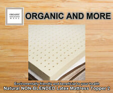 100% Natural Non Blended Latex Mattress Topper 2 inches Thick - Twin Size