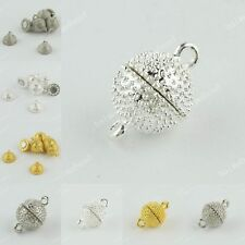 WHOLESALE SILVER GOLD PLATINUM TONE ROUND BALL FINDINGS MAGNETIC CLASPS