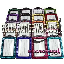 BLING RHINESTONE CRYSTAL VERTICAL ID BADGE CASE DOCUMENT HOLDER FOR LANYARDS NEW