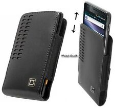 Leather Open-Top Case Pouch Cover for SONY Phones. +Accessory Holster Belt Clip