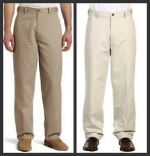 New Dockers Mens Pants D3 Comfort Waist Flat Front No Wrinkles Stone or Khaki