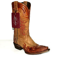 """El Santo"" Hand Tooled Design Men's (9-EE) Lucchese M1705 Western Boot"