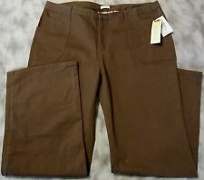 c.l.o.t.h.e.s Women Brown Cotton/Spandex Barbados Casual Twill Pants MSRP$44.00