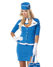 Retro Stewardess 60's Sweetheart Adult Womens Outfit Halloween Costume