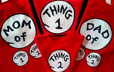 DR SEUSS MOM of THING one 1 t SHIRT 1 2 two 3 three 4 adult youth infant COSTUME