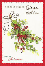 traditional with love GRAN christmas card - multi listing
