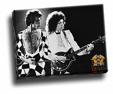 Queen Brian May Freddie Mercury Music Album Collage Giclee Canvas Picture Art
