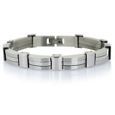 Mens Silver Gold Stainless Steel Links Bracelet Jewellery,Man Gift for Under £10