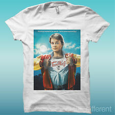 "T-SHIRT "" TEEN WOLF MICHAEL J FOX "" BIANCO THE HAPPINESS IS HAVE MY T-SHIRT NEW"