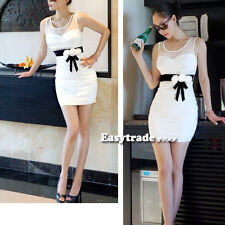 Charming White Sexy Women Lady's Clubbing Cocktail Party Ball Mini Dress ESY1