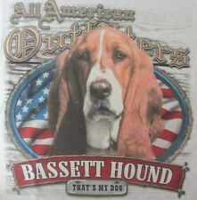 NEW! Adult  ALL AMERICAN OUTFITTERS That's My Dog BASSETT HOUND Unisex T-Shirt