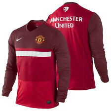 Nike Manchester United Official 2012-13 MidLayer Soccer LS Training Top New RED