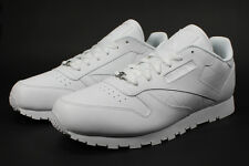 """NEW"" Reebok Classic Running Shoes Leather Youth/Women White Boy's(GS) [J90139]"
