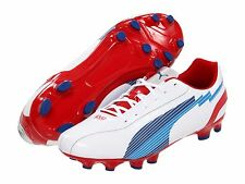 Puma eVoSpeed 5FG Brand NEW SOCCER SHOES White-Red-Royal KIDS - YOUTH Brand New