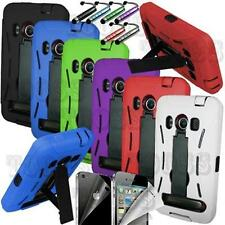 RUGGED IMPACT HYBRID HARD KICKSTAND CASE COVER HTC EVO 4G PHONE ACCESSORY SPRINT