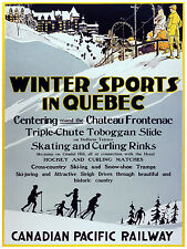 442.Winter Sport in Quebec Art Decor POSTER. Graphics to decorate home office.