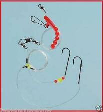 5 x Boat Wreck / Pier Sea Fishing Running Rigs 2 Hook All sizes 5 Rigs pack